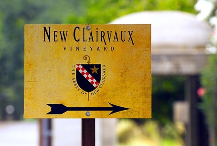 New Clairvaux Vineyard Sign