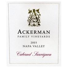 Ackerman Family Vineyards Cabernet wine label