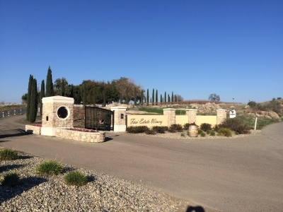 Entrance to Fasi Estate Winery in Friant California