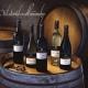 Domenico wines on a barrel